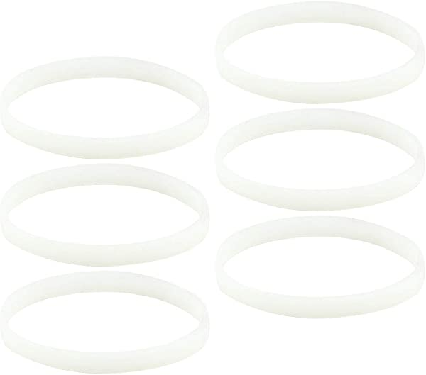 6 Pack White Gasket Rubber Sealing O Ring Replacement Part For Nutri Ninja Auto IQ Blenders BL480 BL681A BL682 BL640