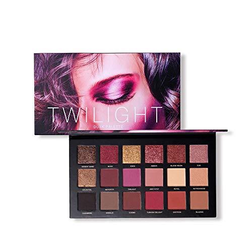 18 Colores Impermeable Paleta de Sombra de Ojos de Alta pigmentado de Ojos en Polvo fácil de Mezclar Mate Brillante de Sombra de Ojos Maquillaje Paleta paletas de Maquillaje de Ojos (Multicolor)