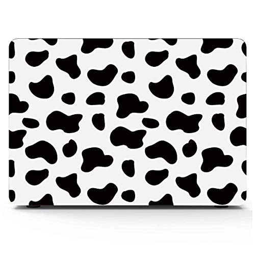 MacBook Accessories Printed Cow Spots Abstract Art Hard Laptop Cases Hard Shell Mac Air 11'/13' Pro 13'/15'/16' with Notebook Sleeve Bag for MacBook 2008-2020 Version
