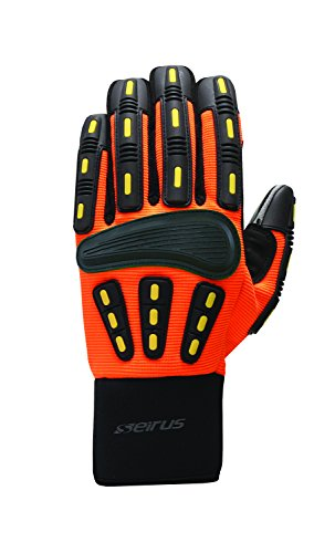 Seirus Innovation Men's Hws Gripper Glove, His- His-Vis Orange,...
