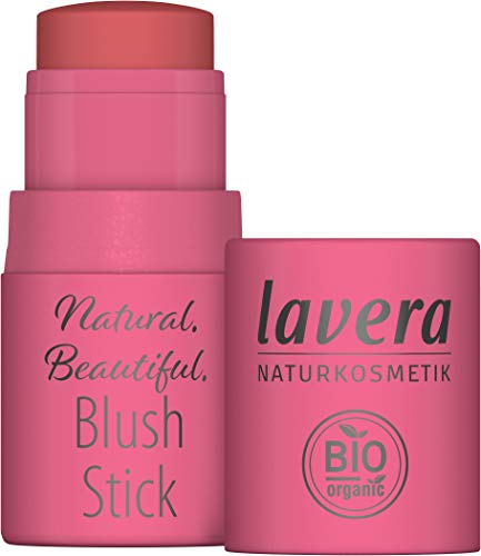 lavera Natural Beautiful Blush Stick Rouge und Lippenstift, Joyful Pink 02