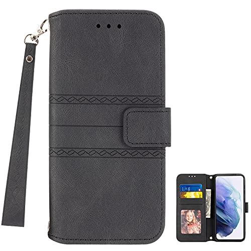 Redmi K40 Gaming MingMing Plånboksfodral för Redmi K40 spelfodral, telefonfodral i läder kompatibel med Redmi K40 spel, retro stil plånbok magnetiskt fodral med kreditkortsplatser och flip-stativ, DGS4