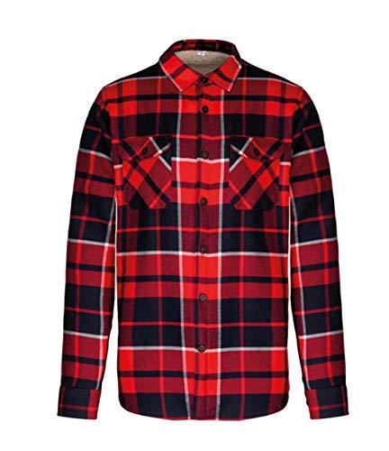 Kariban Sherpa - Chaqueta de camisa con forro