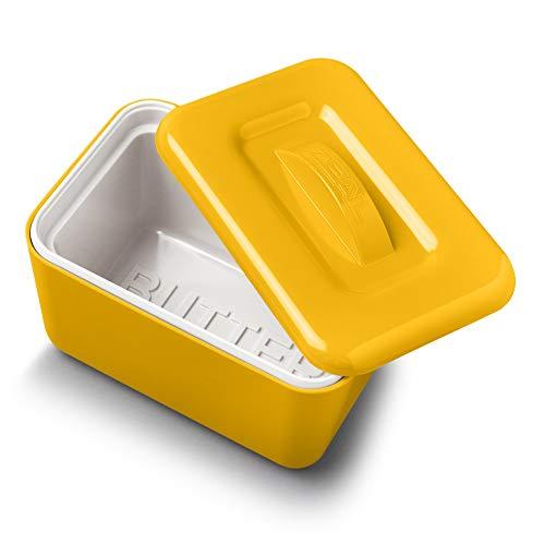 Zeal G265M Mantequera de melamina con Doble Pared aislada con Tapa, Color, amarillo mostaza