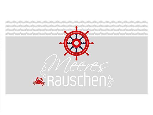 GRAZDesign Fensterfolie Bad, Sichtschutzfolie Maritim, Milchglasfolie Meeresrauschen, Fensterfolie Sichtschutz Schiff / 100x57cm