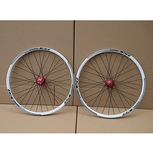 CHICTI MTB Bicycle Wheelset 26 27.5 29 In Mountain Bike Wheel Double Layer Alloy Rim Sealed Bearing 7-11 Speed Cassette Hub Disc Brake 1100g QR Outdoor (Color : E, Size : 27.5inch)
