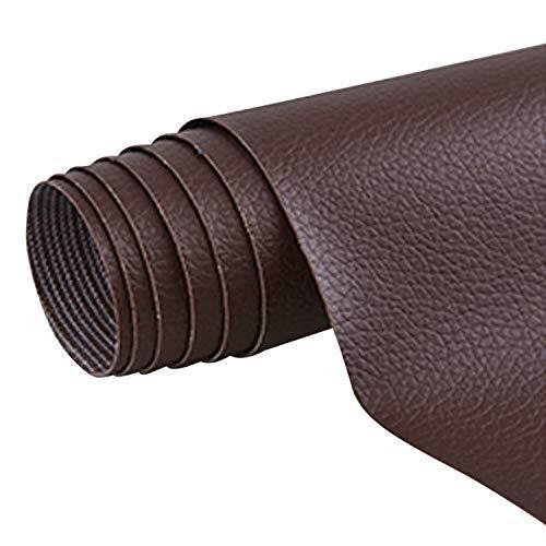 Siebwin 1 Stück Selbstklebende PU Leder Reparatur Tape Patch Erste Hilfe für Sofa Auto Sitz Möbel Jacken Handtasche 42 x 137cm Dunkelbraun