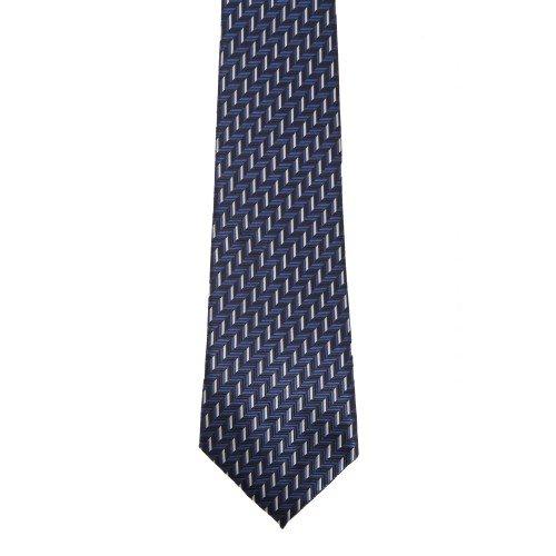 Premier - Cravate à motifs zig-zag - Homme (Taille unique) (Bleu)