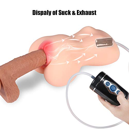 LQTY Lifelike Automatic Suck Love Doles for Men Male Realistic Adult Toys with Silcone Full Body Women Real Torso