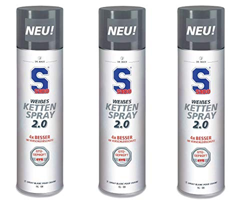 Kettenspray S100 weiss DR. Wack 3 Dosen á 400 ml 4006539723508