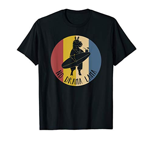 Lustiges Surf Geschenk, Süß, No Prob Lama, No Drama Lama T-Shirt