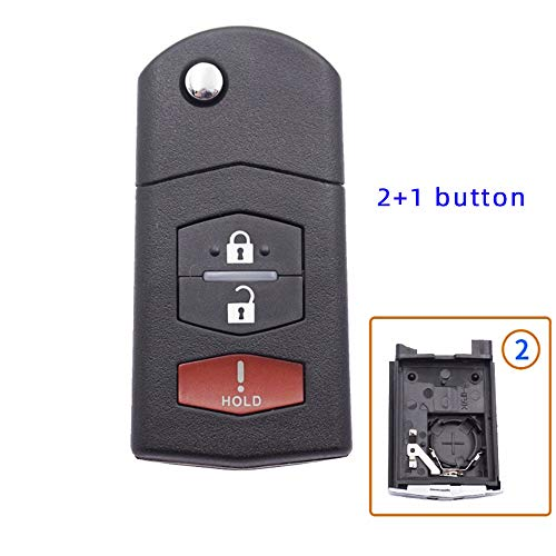 2 3 botones remoto Flip plegable llave del coche Shell caso Fob para VW para Volkswagen Bora Passat Golf Polo Jetta Touran no Blade (2+1 botón)
