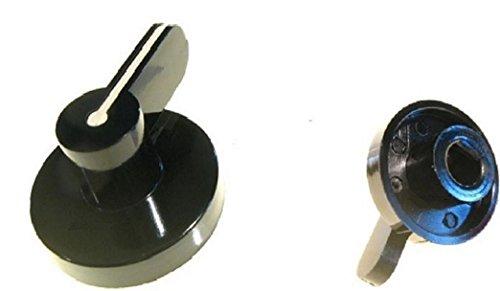 SMEG MANOPOLA NERA ATTACCO 8 mm.PIANO COTTURA CUCINA GAS 1 PEZZO M 5338