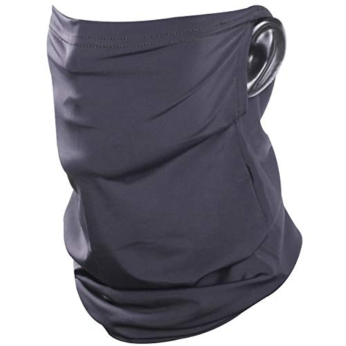 Bun Large Neck Gaiter Earloops, Summer Sun Face Cover Sports Mask Novelty Face Scarf Mask for Women Cooling Neck Gaiter Reusable Washable Mouth Cover Breathable Face Mask for Men 1 Pack, Black