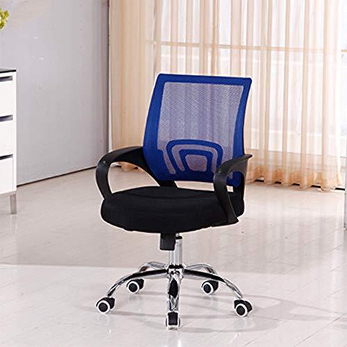 Sillas de juego, silla de oficina para juegos de oficina con rotación 360, diseño ergonómico adecuado para relajarse, juegos de carreras (color: rojo)