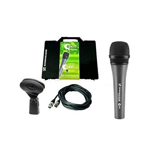 SENNHEISER E835 KIT3 - Micrófono dinámico para voz (estuche, cable, soporte)