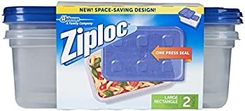 Ziploc Container Large Rectangle 9 cup Containers - 2 ct