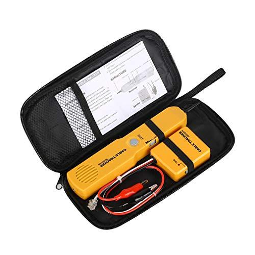 RJ11 Netzwerktelefonkabeltester Toner Tracker Diagnose Tonleitungsfinder Gelb