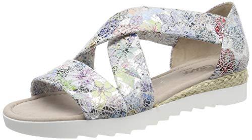 Gabor Shoes Damen Comfort Sport Riemchensandalen, Mehrfarbig (Silber (Jute) 11), 37 EU