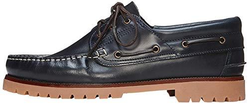 find. AMZ142 - Leather Náuticos, Zapatos para Hombre,Marino, 45 EU