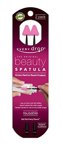 Every drop Beauty Spatula, Get Hard to Reach Beauty Products Out of Bottle, Washable and Reusable, 2 Spatulas