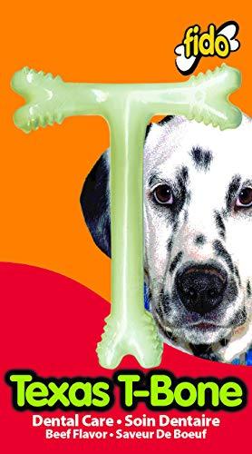 Fido Texas T-Bone Dental Dog Bone, Beef Flavored, Large 6-1/2'