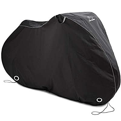 TeamObsidian Bike Cover L - Waterproof Outdoor Bicycle Storage for 1 Bike - Heavy Duty Ripstop Material - Offers Constant Protection for All Types of Bicycles All Through The 4 Seasons