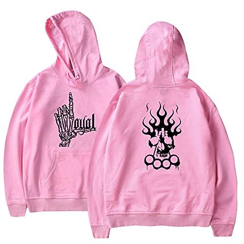 New Hot Kontra K Print Hoodies Sweatshirt Cute Damen Herren Mode Hoodies Gr. Medium, Pinko