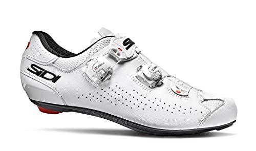 Sidi Genius 10 Fahrradschuhe für Herren, Weiß, 46,5