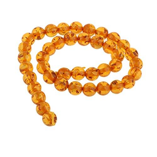 sharprepublic 15,5 Zoll Strang Mahagoni Bernstein Runde Lose Perlen 10mm Für DIY Halskette Machen