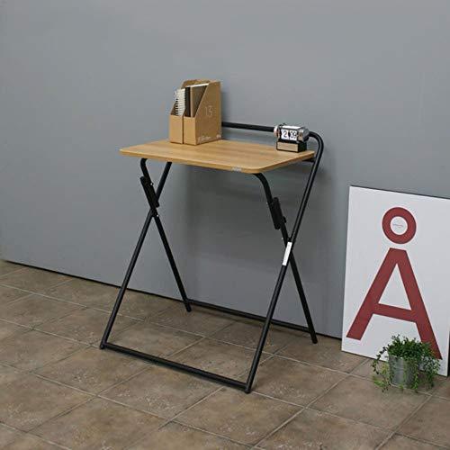 Carl Artbay Home&Selected Furniture/Folding Desk Semplice Pieghevole del PC da Tavolo scrivania Studio Industrial Style Folding Writing Desk for Computer Home Office (Colore: Nero, del Seno: B)