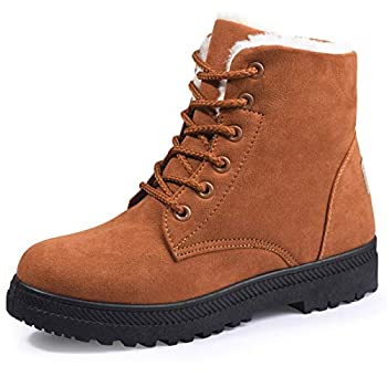 Susanny Suede Flat Platform Women's Lace Up Snow Boots