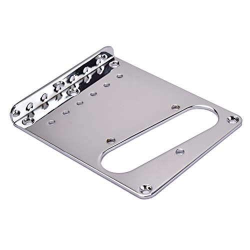 LIOOBO Guitar Bridge Chrome de placa de puente de carga superior para...