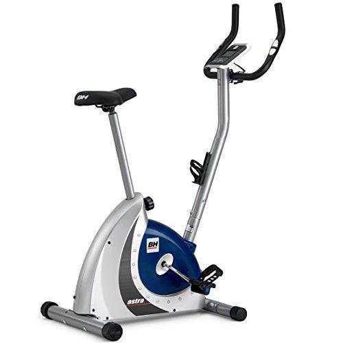 BH Fitness Astra Program H286FD Bicicleta estática - 8 Programas predefinidos - 14 Niveles - Plata y Azul