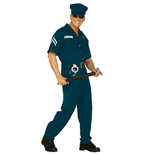 US Cop Kostüm USA Polizeikostüm Herren M (50) Polizist Herrenkostüm Fasching Amerika Polizei Faschingskostüm Polizeiuniform Karnevalskostüm Uniform Mottoparty Verkleidung Karneval Kostüme Männer