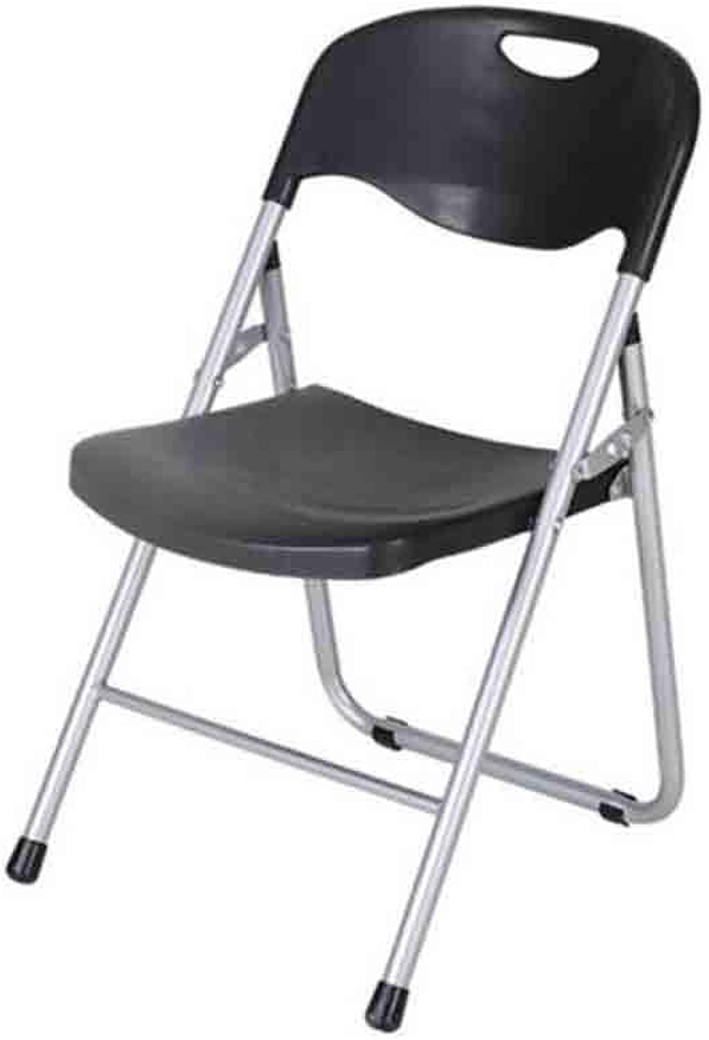 YCSD Folding Chair, Office Training Conference Chair,Plastic Computer Chair Dining Chair (color   Black)