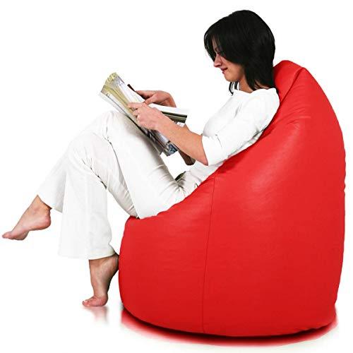 Ecopuf Sitzsack L - Beanbag aus Kunstleder mit Anti-Verlust Reißverschluss - 70x110cm