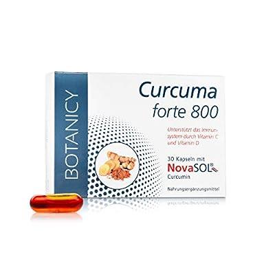 CURCUMA FORTE 800 mit flüssigem Mizell-Curcumin ohne Piperin, hochdosiertes Kurkuma für die tägliche Einnahme, Kapsel entspricht 7.400 mg Kurkuma-Pulver (30 Kapseln, Monatspack)