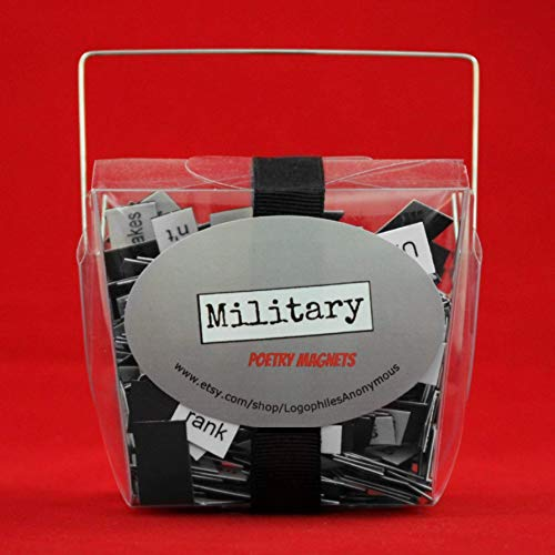 Military Poetry Magnet Set - Refrigerator Poetry Word Magnets