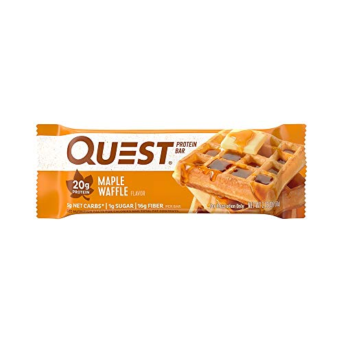Quest Nutrition Protein Bar High Protein, Low Carb, Gluten Free, Keto Friendly, Maple Waffle 12...