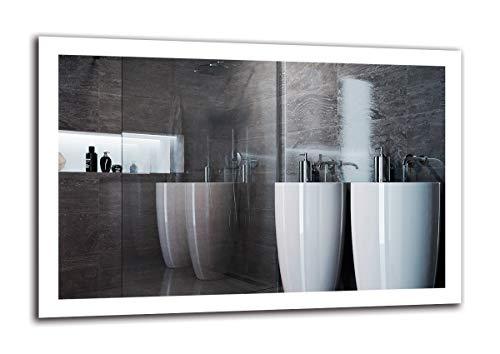 Espejo LED Premium - Dimensiones del Espejo 120x80 cm - Espejo de baño con iluminación LED - Espejo de Pared - Espejo de luz - Espejo con iluminación - ARTTOR M1ZP-50-120x80 - Blanco frío 6500K