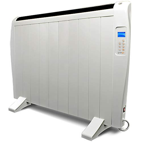 gridinlux. Homely Atmosphere 1500W. Emisor Térmico, Radiador Eléctrico, 10 Elementos, 3 Modos, Mando de Control, Temporizador, Pantalla LED.