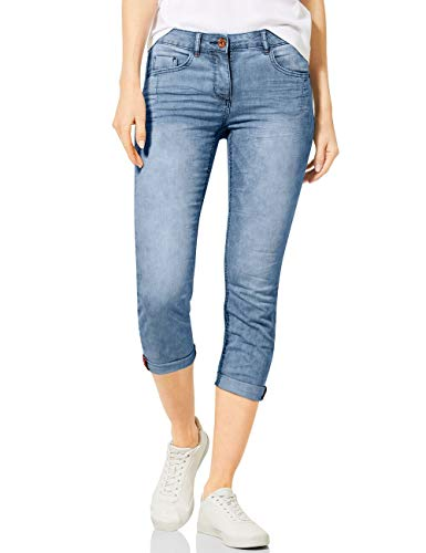 Cecil Damen 373001 TOS Charlize Stripe Jeans, Light Blue Used wash, W31/L26