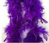 Leayao - Tiras de Plumas para Disfraz, Bufandas de Plumas para decoración de Bodas, Color Morado Oscuro