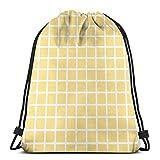 Jhonangel Mochila Deportiva con cordón Impermeable de Rejilla Amarilla para Hombres, Mujeres, niñas, 36 x 43 cm / 14,2 x 16,9 Pulgadas