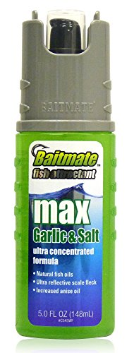 Baitmate Max Garlic with Salt Scent Fish Attractant, 5 Fluid-Ounce