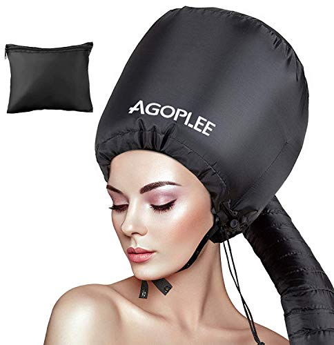 Soft Bonnet Hood Hairdryer Attachment, Adjustable Hooded Bonnet for Hand Held Hair Dryer - Drying Styling Curling Deep Conditioning