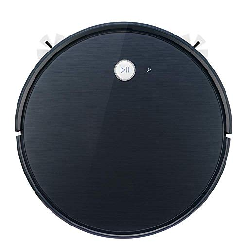 Robot de limpieza de barrido aspiradora en hogares completamente automático ultra-delgado barrer el piso de la fregona una máquina de gran tamaño del tanque de agua, (Color: Negro) (Color: Negro) huan