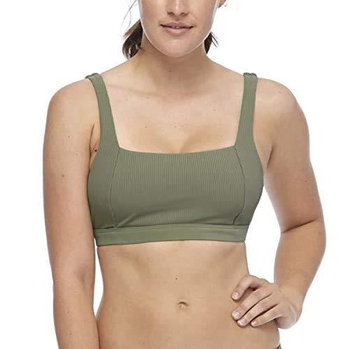 Body Glove Women's Standard Alison D, DD Cup Bikini Top Swimsuit, Ibiza Ribbed Cactus, Large