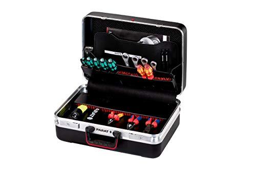 Parat CLASSIC Allround Werkzeugkoffer (Ordnungssystem CP-7 - 1 Längs-, 3 Querstege, 2 Schlüssel, 48 x 36 x 21 cm, ohne Inhalt) 584000171